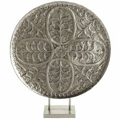 "Tree of Life Embossed Platter, 23.75"" wide x 5"" deep x 28"" high, reg 79.95 clearance $59.98."