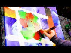 Pintura abstracta de demostración - cinta adhesiva y cepillo - Rubus - John Beckley - YouTube