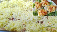 Ananásszal és sajttal sült csirkemell Potato Salad, Cabbage, Ale, Grains, Muffin, Food And Drink, Potatoes, Chicken, Vegetables