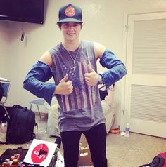 jeans on brad's arms
