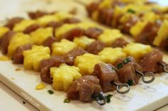Hawaiian Chicken Skewers - so tasty and flavorful and two skewers are just 220 calories or 3 Weight Watchers SmartPoints! www.emilybites.com #healthy