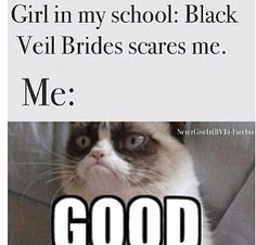 i just tell them if they think bvb is scary they should go look up slipknot or Deathstars XD