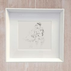 Custom illustration. That special moment captured from your wedding day.  www.wedding-picture.co.uk Unique Wedding Gifts, Unique Weddings, Wedding Illustration, Wedding Day, Frame, Home Decor, Pi Day Wedding, Picture Frame, Decoration Home