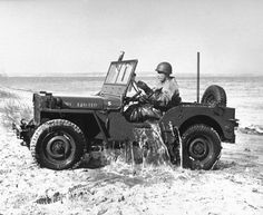 """The Willys MB U.S. Army Jeep (formally the Truck, 1/4 ton, 4x4) and the Ford GPW were manufactured from 1941 to 1945. These small four-wheel drive utility vehicles are considered the iconic World War II Jeep, and inspired many similar light utility vehicles. Over the years, the World War II Jeep later evolved into the """"CJ"""" civilian Jeep. Really in a class by itself!  Profoundly Perfect!"""