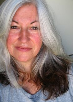 Ok..i think i want to do this to the very ends of my long gray hair! What do you think? Not cool for a 66 year old gal? Can cut it off later on~mbr~