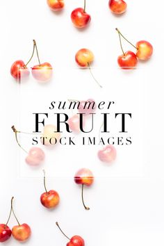 Cherries, pineapples, strawberries and blueberries! It's summer Fruit Styled Stock Photography - perfect for health and food bloggers!