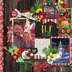 Elf Life - Sweet Shoppe Gallery Santa! I know him!! Bundle http://www.sweetshoppedesigns.com/sweetshoppe/product.php?productid=35603&cat=877&page=3 by Amanda Yi and Melissa Bennett Half Pack 172 by Cindy Schneider