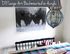 DIY Art Backmounted
