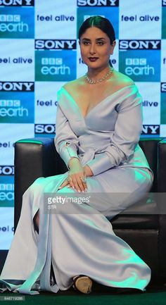 Indian Bollywood actress Kareena Kapoor Khan poses during a promotional event for entertainment channel Sony BBC Earth, in Mumbai on March / AFP / STR Get premium, high resolution news photos at Getty Images Most Beautiful Bollywood Actress, Bollywood Actress Hot Photos, Indian Actress Hot Pics, Indian Bollywood Actress, Actress Pics, Bollywood Fashion, Indian Actresses, Bhojpuri Actress, Tamil Actress