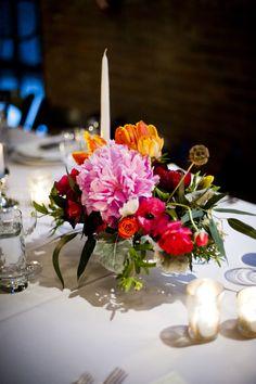 #peony, #centerpiece Photography: Khaki Bedford Photography - khakibedfordphoto.com/ Read More: http://www.stylemepretty.com/2014/09/15/brooklyn-urban-garden-wedding/