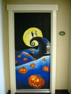 katie brinkman fine artist halloween door decorating contest