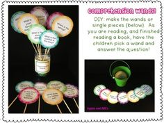 Comprehension Wands to use during and after reading a story with the kids
