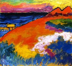 """""""On the Baltic"""", 1911, Alexei Jawlensky, Baltic expressionism,1911"""