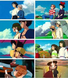 Manga Anime, Old Anime, Fanarts Anime, Studio Ghibli Art, Studio Ghibli Movies, Studio Ghibli Characters, Howls Moving Castle, My Neighbor Totoro, Hayao Miyazaki