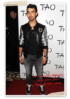 Joe Jonas wearing baseball jacket | Celebrities wearing Baseball ...