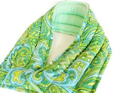 Long Heat Pad Neck Wrap, Microwave Heated Bag, Large Heat Pack Therapy Pack, Wide non electric heating pad, Zen Gift for Healing Hope Calm