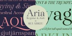 Aria Pro font download