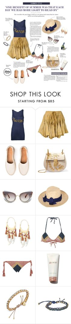 """""""Alohas Sandals #38"""" by thewondersoffashion ❤ liked on Polyvore featuring Pierre Balmain, Vivienne Westwood Gold Label, Chloé, Miu Miu, Patrizia Fabri, Tory Burch and All That Remains"""