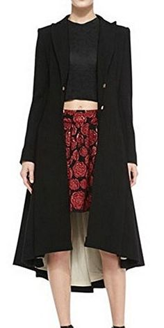 Long coat on fashion style prefect for different occasions, it's handmade, #it's available in plus-size, and it can be customized.