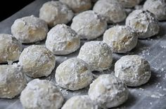 Hawaiian Wedding Cookies  (aka - Mexican Wedding Cookies, Italian Wedding cookies, Russian Tea Cakes - with an Hawaiian twist. The traditional recipe is made with almonds, or sometimes pecans, and vanilla).
