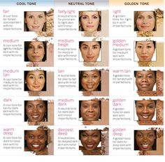 Knowing skin tones and undertones will help you when applying makeup to all shades of color from the whitest of the ivory to the deepest of the ebony and all in between.
