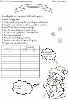 Learn Polish, Creative Writing Ideas, Polish Language, Educational Crafts, Fine Motor Skills, Teaching Resources, Worksheets, Homeschool, Teacher