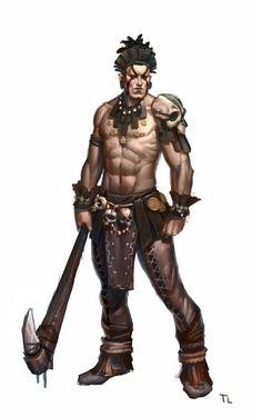 #fantasymen #shirtlessfantasymen #barbarian #d&d
