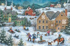 Let it Snow - Bonnie White - Folk Art Painting
