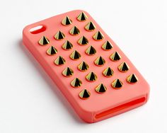 Coral Felony iPhone Case with Gold Studs