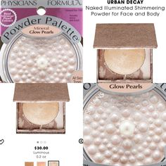 Dupe for Urban Decay Illuminated Shimmering Powder for Face and Body in Luminous is Physicians Formula Mineral Glow Pearls Powder in Translucent Pearl 7040