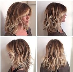 Hair Messy & Curly Lob Haircut + Blonde Balayage Highlights Wedding Favor Traditions A Wedding is on Curly Lob Haircut, Blonde Haircuts, Long Bob Haircuts, Long Bob Hairstyles, Gorgeous Hairstyles, Pixie Haircuts, Long Bob Haircut With Layers, Lob Hairstyle, Dreadlock Hairstyles