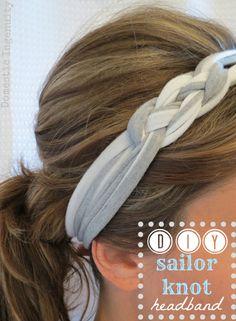 Sailor Knot Headband DIY sailor headband - make with old tshirt - no sew if you want.just use hot glue gun!DIY sailor headband - make with old tshirt - no sew if you want.just use hot glue gun! The Knot, Diy Headband, Headband Tutorial, Braided Headbands, Girl Headbands, Flower Headbands, Bow Tutorial, Flower Tutorial, Cloth Headbands
