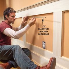 How to Build a Wainscoted Wall - Step by Step | The Family Handyman
