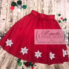 36f87f1c6 Snowflake red skirt a la Minnie to Disneybound- Dapper Day- Dress up for  adult