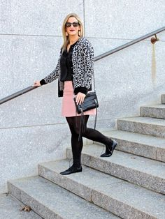 Leopard as a neutral- How to wear leopard with blush pink  Blush & Leopard- Boston Chic Party
