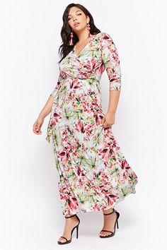 89f84c05777 Plus Size Floral Maxi Dress