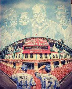 The new boys saluting the good ol' boys!!! Congrats to all those Cubs and Fan who watched from above!!!!