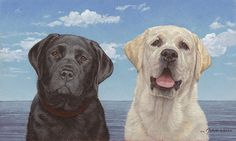 "Intelligent, loyal and unconditionally loving, the Labrador retriever is the most popular dog breed worldwide. Proud owners often expand their families to include more than one. Artist John Weiss presents what he considers the perfect harmony of Lab ownership with ""Ebony and Ivory"" this new fine art edition that will expand your Lab ownership. Try it at home for free. www.greenwichworkshop.com/weiss"