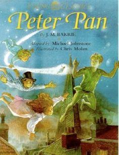 Capa de Peter Pan, de James Matthew Barrie, com ilustrações de Chris Molan.