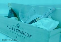 Pure #luxury in the #champagne bar onboard AIDAprima while sipping a glass of Moët & Chandon champagne