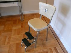 Vintage Foldable Step Stool Kitchen Chair Cosco Kitchenette Kitsch Mid Century…