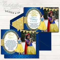 Snow White PRINTABLE Invitation  PRINTABLE DIGITAL FILE     Do you have a big Snow White fan at home that's excited to have a Princess birthday party? Then look no further than this whimsically vibrant and playful invitation to help make their dreams come true! From bright reds and golds to pixie stars and the complimentary backside, this adorable Princess Snow White birthday invitation is sure to please your little princess and kick off the party in style! Snow White Invitations, Digital Invitations, Printable Invitations, Princess Birthday Invitations, Snow White Birthday, Colored Envelopes, Little Princess, Your Cards