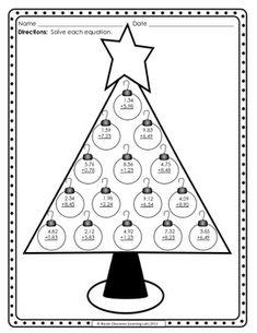 Christmas Tree Adding Challenge 2, christmas math activity