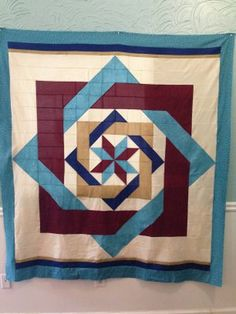 Labyrinth quilt --  pattern is by Debbie Maddy