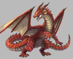 Red Dragon, Dragon Art, Legendary Dragons, Creature Concept, Magic Art, Creature Design, Design Reference, Steampunk, Witch