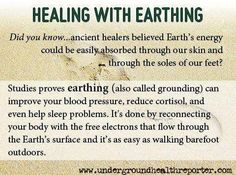 Earthing or Grounding ---  Healing From Earth's Electrons.