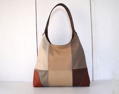 Leather bag leather purse 1970s vintage inspired by ThongbaiTatong, $240.00