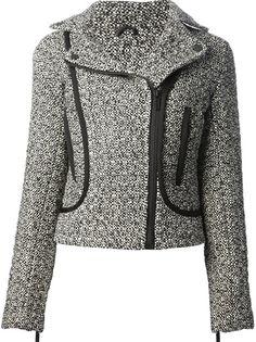 KARL LAGERFELD Tweed Biker Jacket