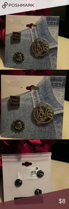 🌷FREE WITH PURCHASE.  NEW. 3 PC GLAM PINS 🌷JUST BUNDLE WITH YOUR ORDER AND OFFER ME $8 LESS THAN YOUR TOTAL OR JUST MESSAGE ME THAT YOU WOULD LIKE THIS ONE FREE. 3 pc. GLAM PINS for your wardrobe or purse. Jewelry