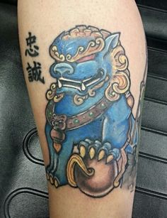 Foo Dog Tattoo. Done by Tom Hacic @ redhouse tattoo